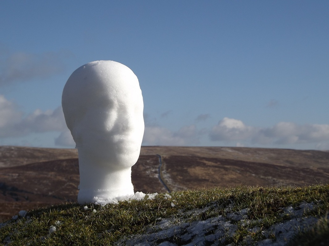Testing the mould in Dartmoor National Park. © Holly Owen and Kristina Pulejkova