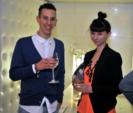 Olivia Tucker with Lacoste Footwear's Ricky Moakes at the 30 under 30 Drapers Dinner