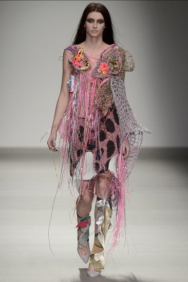Matty Bovan, joint winner of the L'Oréal Professionnel Creative Award