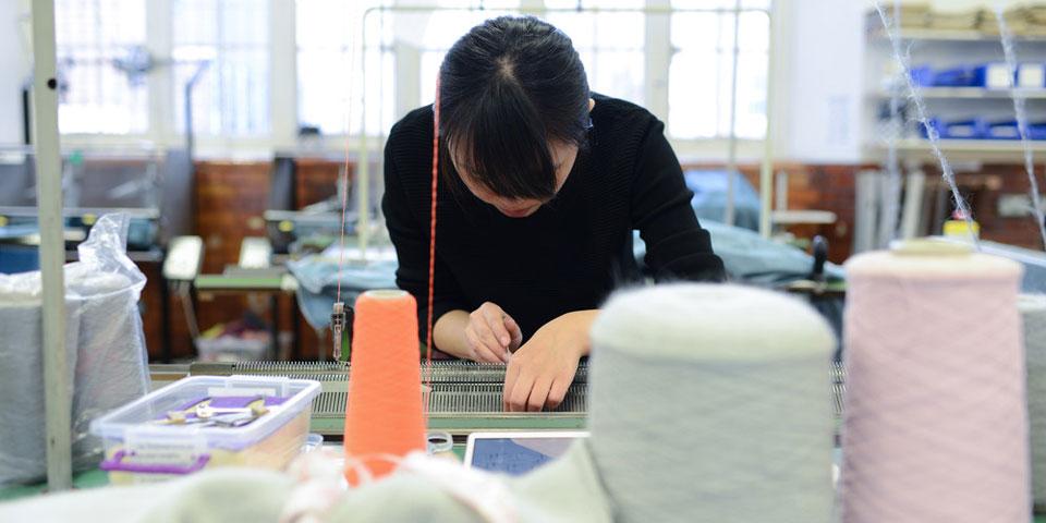 LCF's Lime Grove knitwear studio