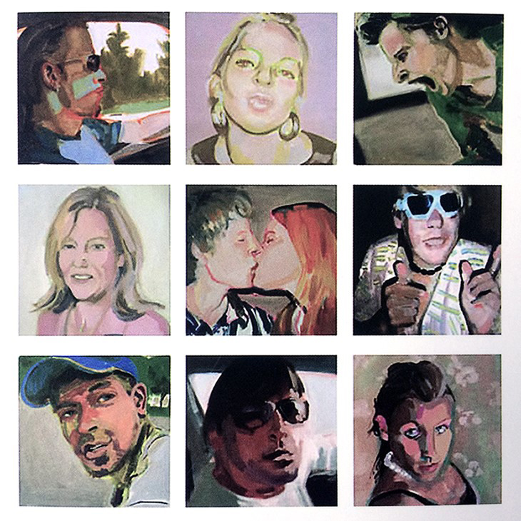 Painted portraits based on social media account profile pictures.