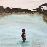 'Boy in water' by Matthew Krishanu