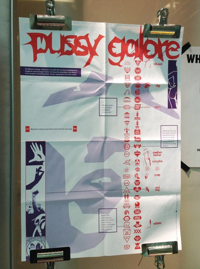 Women's Design and Research Unit's 'Pussy Galore' typeface