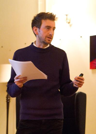Alex Pollard presenting at Lime Grove