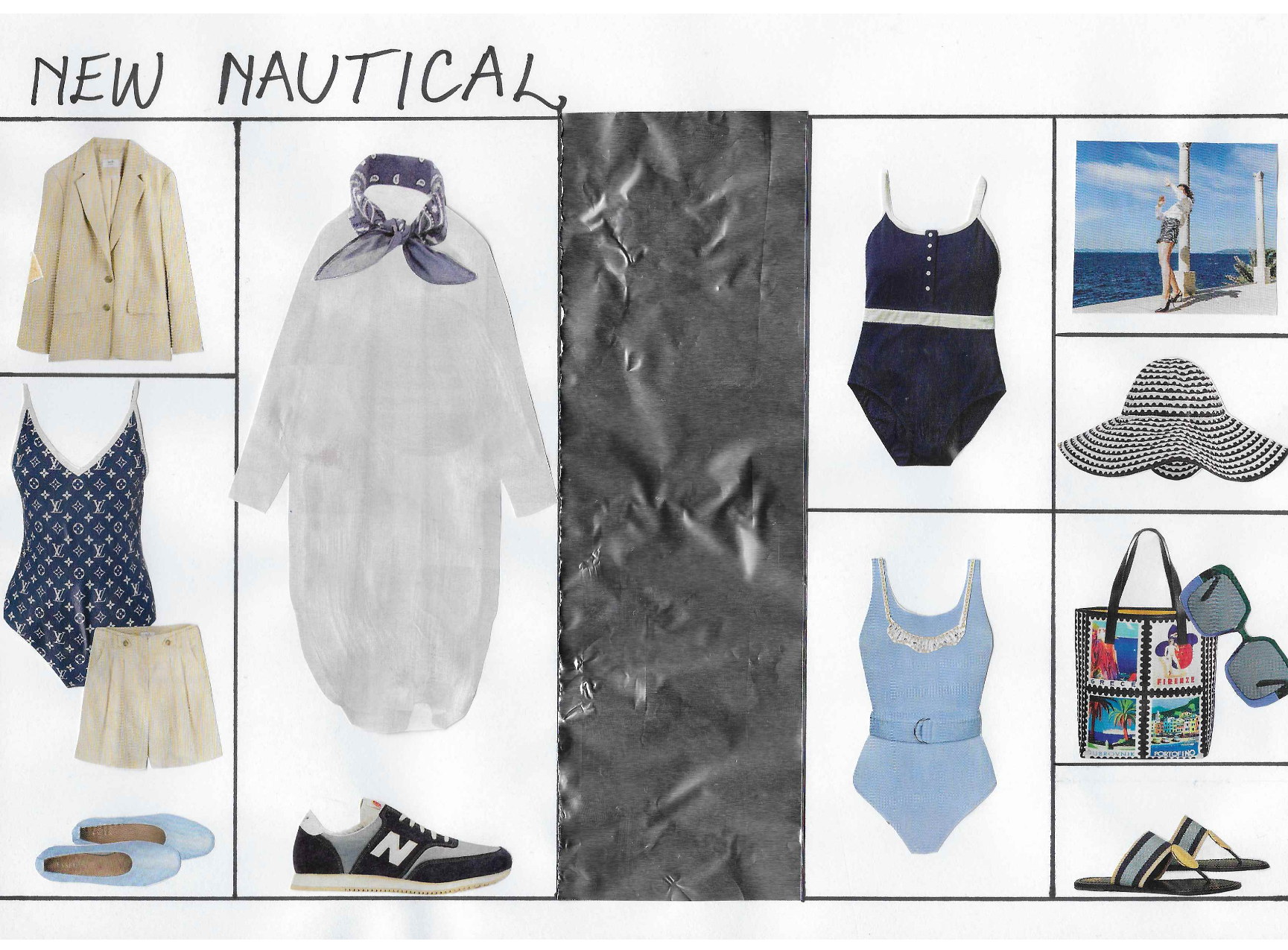 Moodboard design for nautical themed clothing