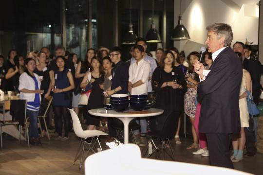 Nigel Carrington speaking to UAL HK Guests