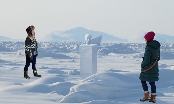 Digital mock-ups of how the project will be produced in the Arctic. © Holly Owen and Kristina Pulejkova