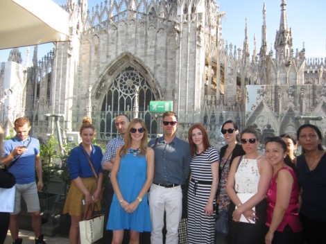 The group on the rooftop at la Rinascente. Photo by Sue Dean